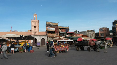 Gauklerplatz Jemaa el Fna in Marrakech