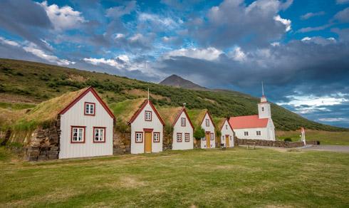 Süden Häuser Iceland