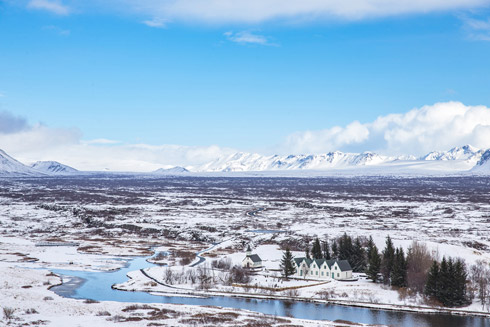 Thingvellir im Winter