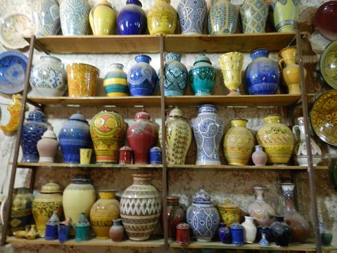 Marokkanische Töpferrei in liebevoller Handarbeit
