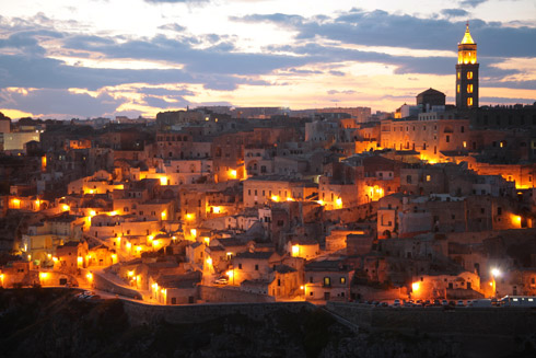 Malerische Felsenstadt Matera - Quelle Fotothek ENIT
