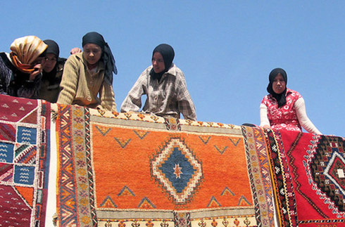 Teppichweberinnnen in Tazenakht