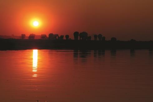 Botswana 13 Abendsonne Fremdenverkerhsamt