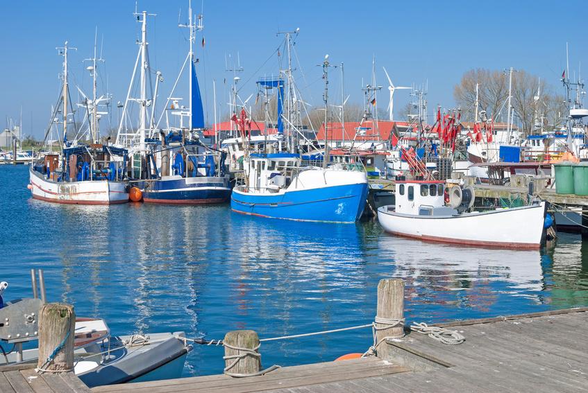 Hafen von Burgstaaken auf der Urlaubsinsel Fehmarn