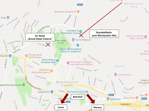 Karte selbst erstellt Montecatini