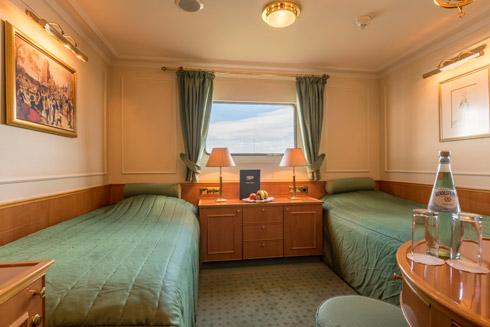 2-Bett Kabine auf dem Hauptdeck