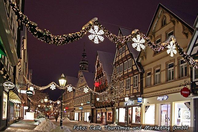 Historische, weihnachtliche Altstadt Celle