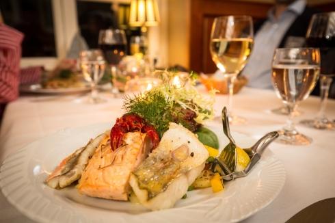 Gedeckter Tisch, Restaurant Park-Café, Bad Saarow.
