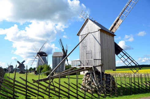Bockwindmühlen auf Saaremaa