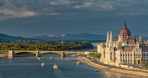 The Hungarian Parliament with Margaret Island