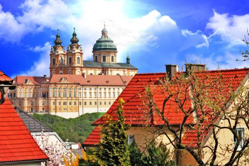baroque Benedictine abbey in Melk, Austria
